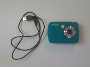 Polaroid-iS04816MP-Waterproof-Digital-Camera-Blue-with-Rubber-Cover-and-USB