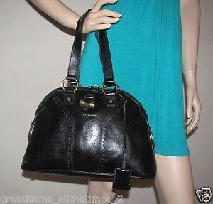 fa413c5d504de Image is loading Authentic-Yves-Saint-Laurent-Black-Leather-034-MUSE-