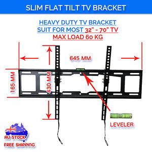 Tilt-LCD-LED-Plasma-Slim-Flat-TV-Wall-Mount-Bracket-37-40-42-46-50-55-60-65-70