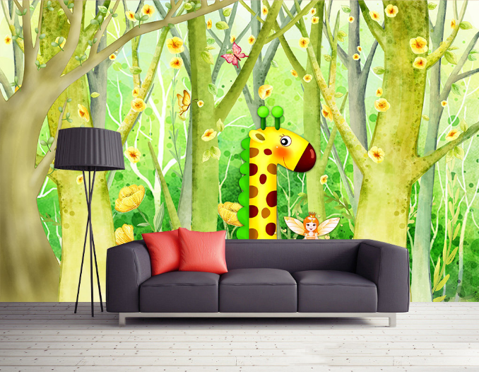 3D Grün Trunk Giraffe 99 Paper Wall Print Wall Decal Wall Deco Indoor Murals