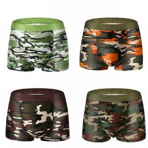 Herren-Camouflage-Unterwaesche-Baumwolle-Boxer-Slips-Shorts-Unterhosen-Schluepfer