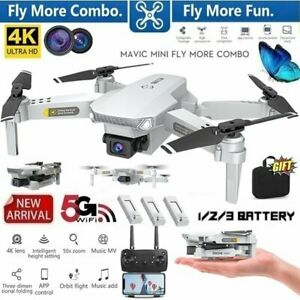 Drone 4K Dual Cameras Foldable Wi-Fi Remote Control RC Hobby Toys Quadcopter Kit