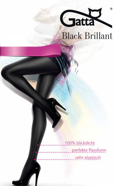 Gatta Black Brillant blickdicht glänzend schimmernd Glamour Strumpfhose schwarz