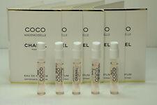 5x Chanel COCO MADEMOISELLE EDP Spray Perfume Samples 0.06oz / 2ml EACH NEW