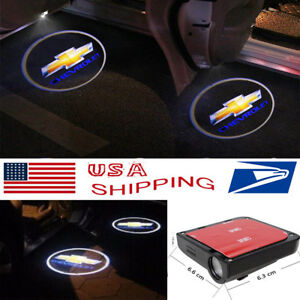 2x Wireless Courtesy Car Door Led Step Laser Welcome Ghost Lights