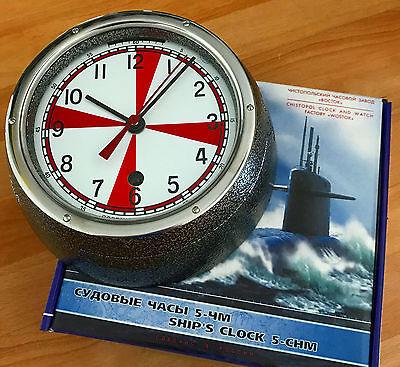 Mutig Vostok Schiffsuhr 5-chm Radio Room / Vostok Ship´s Clock 5-chm Radio Room FöRderung Der Produktion Von KöRperflüSsigkeit Und Speichel