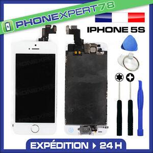 ECRAN-LCD-VITRE-TACTILE-COMPLET-SUR-CHASSIS-POUR-IPHONE-5S-BLANC-OUTILS
