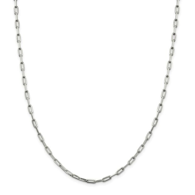 Sterling Silver 1.75mm Elongated Open Link Chain