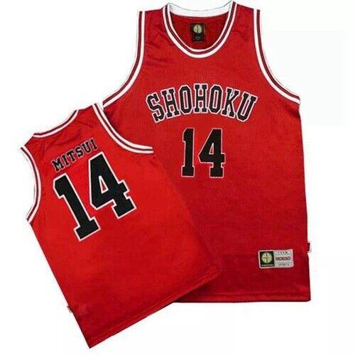 SLAM DUNK Costume Shohoku Basketball #10 #11 #14 Rukawa Sakuragi Red Jerseys