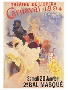 VINTAGE-FRENCH-ART-PRINT-Theatre-de-l-039-Opera-by-Jules-Cheret-27-5x39-5-Poster