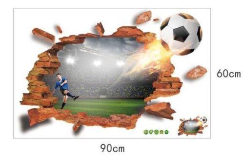 3d Mural Sticker Murale Chambre Enfant STADE de FOOTBALL #138