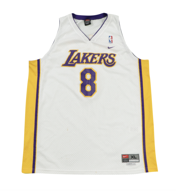 kobe bryant number 8 jersey white cheap online