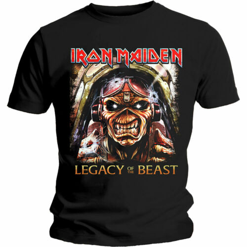 IRON MAIDEN Aces High T-SHIRT All Sizes NEW OFFICIAL Eddie Legacy Of The Beast