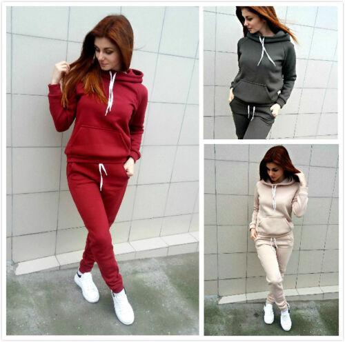 2tlg Damen Trainingsanzug Sports Kapuze Pullover Hose Jogginganzug Hausanzug Set