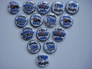 Orlando Magic flat back buttons  or pin badge cabochons embellishments magnets