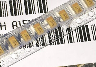100PCS 1206 6.3V 47uF J476 A-type A3216 TAJA476M006RNJ SMD tantalum capacitors