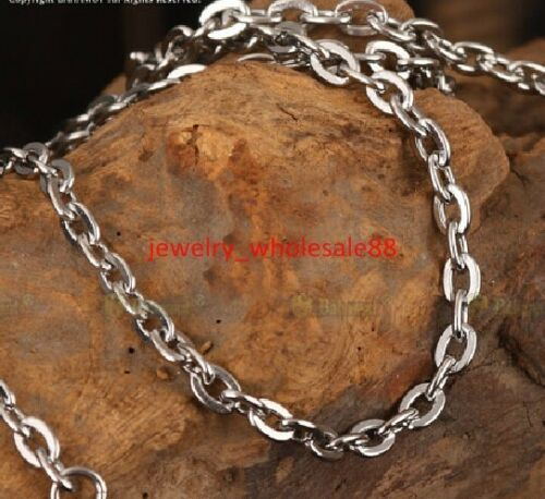 5pcs Lot Stainless Steel 4.5mm Cross Rolo Link Chain Necklace Fashion 18/'/'-36/'/'