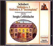 Sergiu CELIBIDACHE: SCHUBERT Symphony No.5 & 8 Unfinished Live 1970 Torino CD