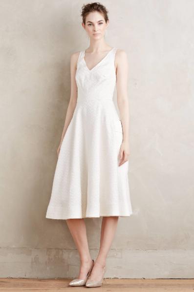 Nuevo Vestido blancoo anthropologie Moulinette Soeurs  dancette ajuste FLARE 6P  368  mas preferencial