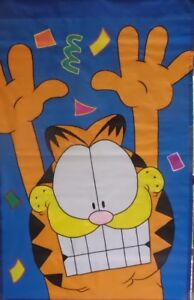 Garfield-Large-House-Flag-28-034-x44-034-Party-Birthday