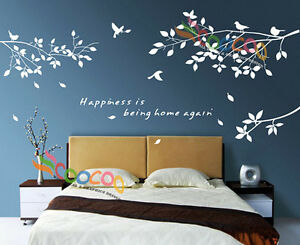 Image Is Loading Wall Decor Decal Sticker Removable Tree Branches Birds
