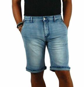 Bermuda-Uomo-Jeans-Pantalone-corto-Shorts-Casual-Cotone-Slim-fit