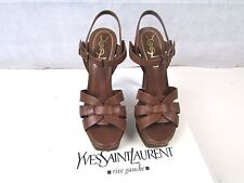 Yves Saint Laurent size 3 or 36 Tribute platform sandal heels authentic  YSL