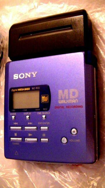 VINTAGE SONY MINIDISC WALKMAN PLAYER RECORDER MZ-R55