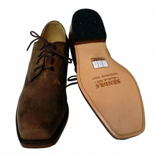 Sendra Biker Schuhe 530 Western echtes Leder choco black handgefertigt geschnürt