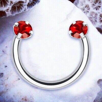 Rainbow Red Horseshoe Ring Septum Piercing Crystal Lip Ring Helix Hoop Cartilage Ebay