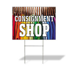 Weatherproof Yard Sign Consignment Shop Advertising Printing Lawn Garden