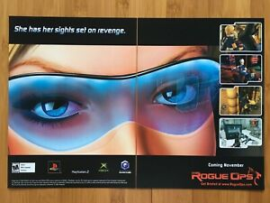 Rogue-Ops-Xbox-PS2-Playstation-2-2003-Vintage-Poster-Ad-Art-Print-Promo-Rare