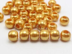 """1//2/"""" Pony Beads With 5mm Hole 100 Red Acrylic Pearl Round Beads 12mm"""