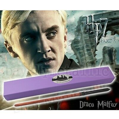 "Harry Potter Draco Malfoy 33cm/13.2"" Resin Replica Magical Wand Cosplay NIB"
