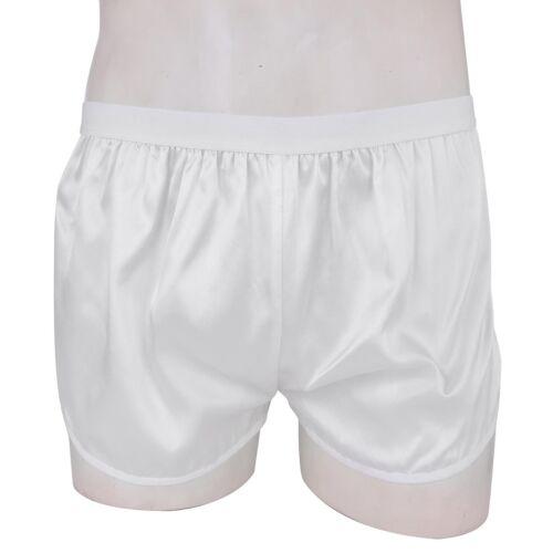 Men/'s Summer Silk Satin Shorts Gym Sports Trunks Boxer Briefs Lounge Swim Pants