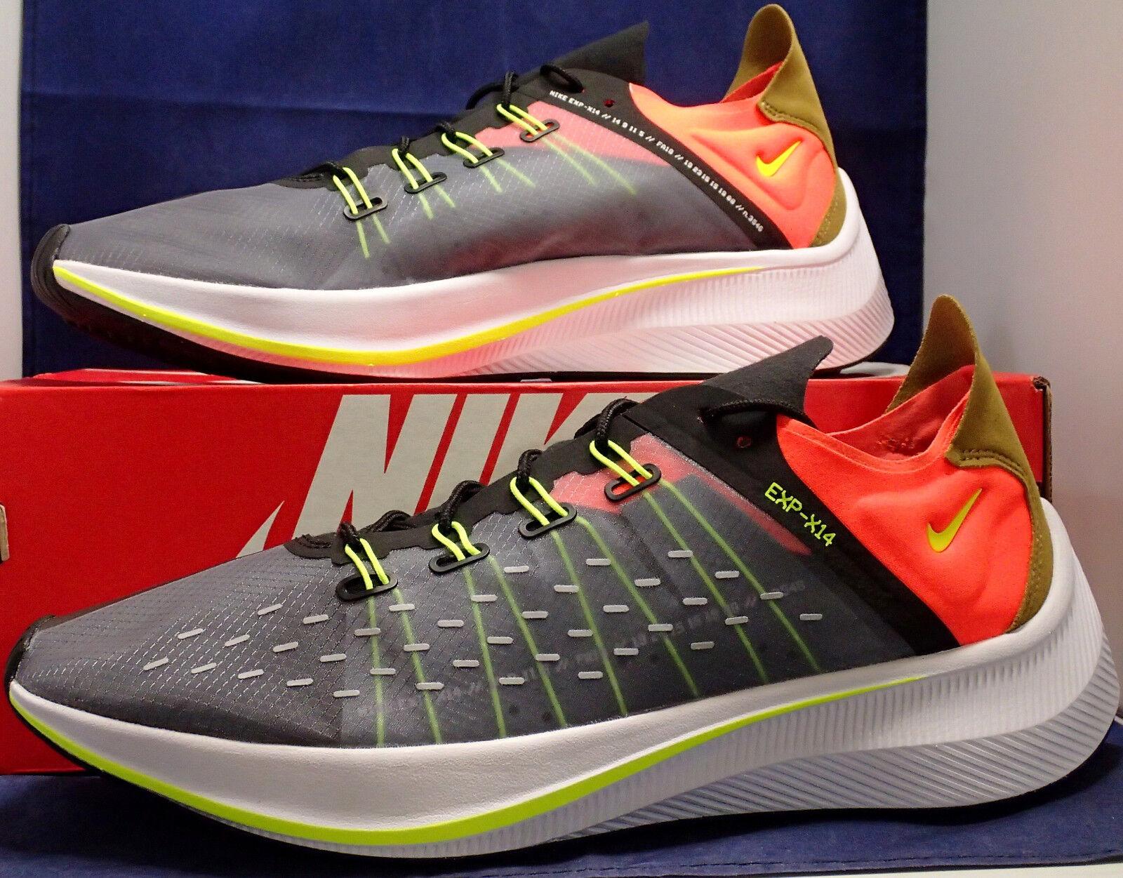 Nike Exp-X14 Noir Volt Total Crimson SZ 12