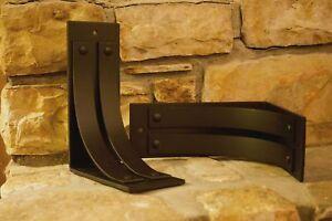 Metal mantel corbels