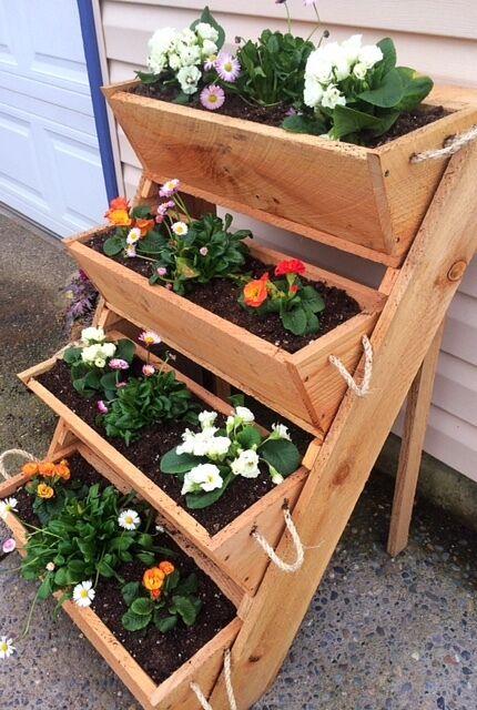 Nuevo 24  viejo aserradero cortado, jardinería planteadas cama verdeical planta de plantación de verduras