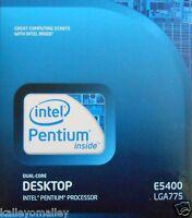 Intel Bx80571e5400 Slgtk Pentium E5400 2m Cache 2.70 Ghz 800 Mhz Retail Box