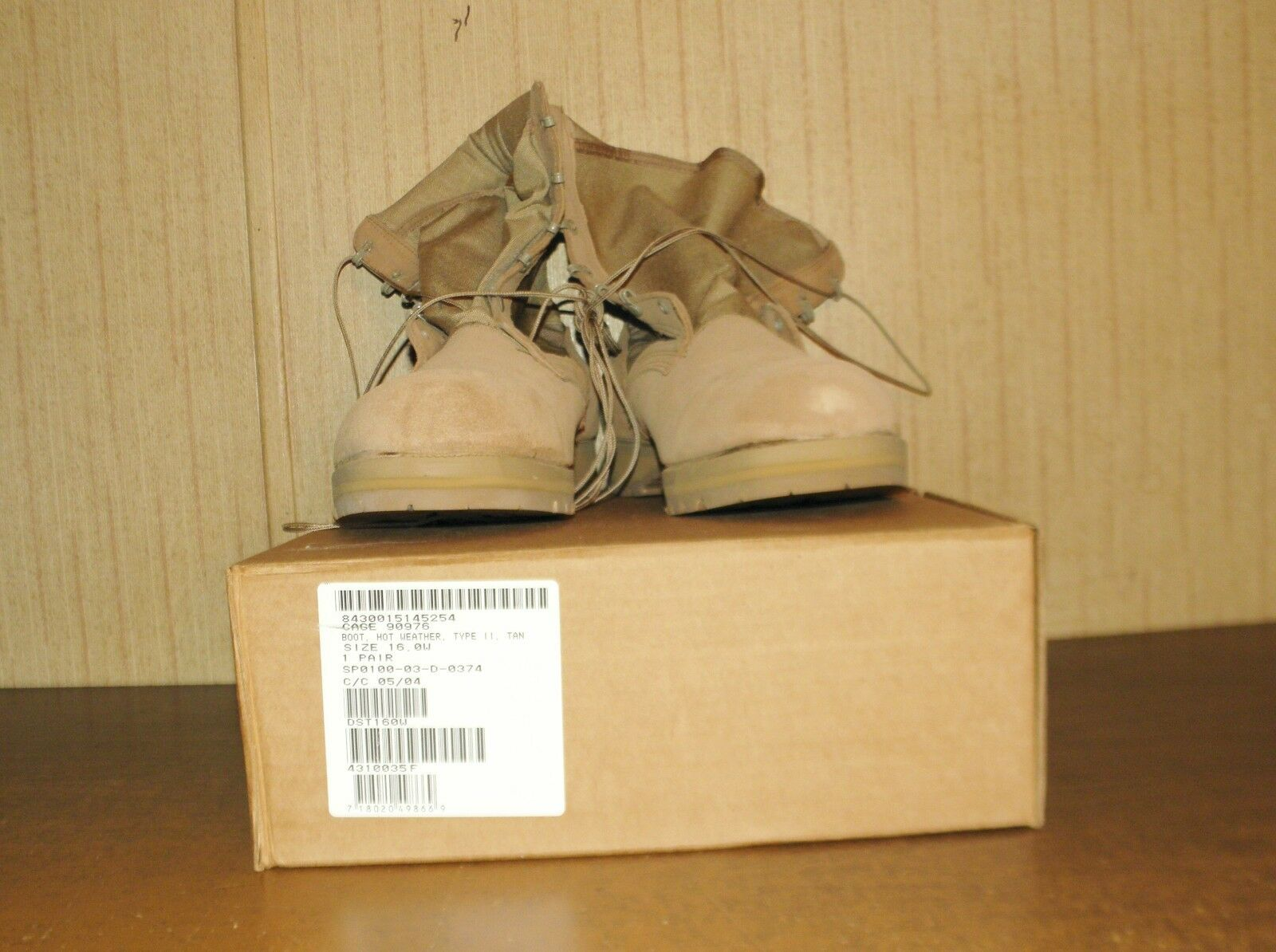 Bellville Hot Weather Military Boots 16W Desert Tan New in Box