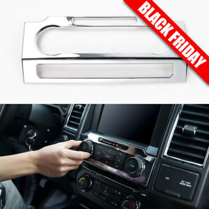 Chrome Central Radio Volume Control Panel Cover Trim For Ford F150 2015-2017 US