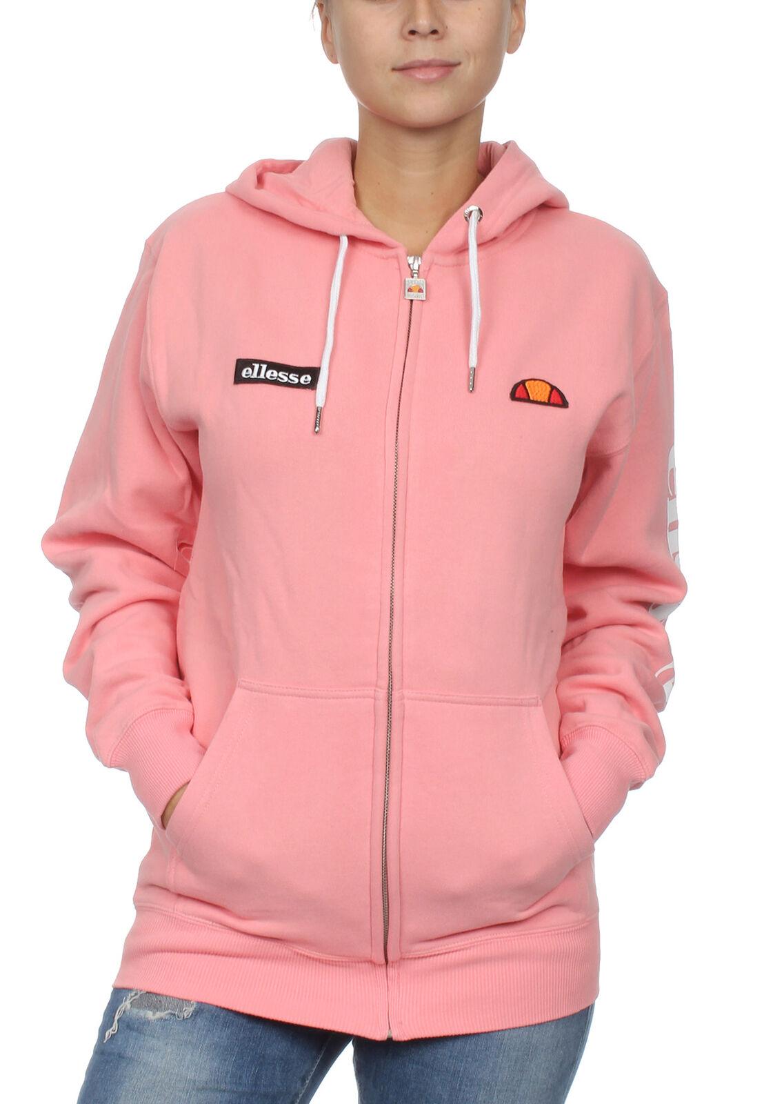 Ellesse Hoody Zipper Ladies Serinata Fz Hoodie Pink Soft Pink