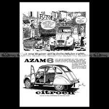 #phpb.002833 Photo CITROËN 2CV AZAM 6 1965 DESSIN JEAN-LUC BEGHIN Advert Reprint