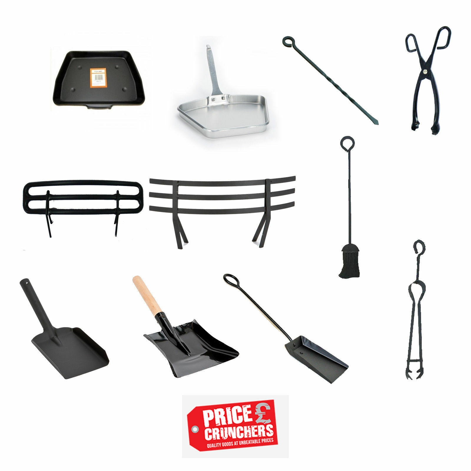 fireside fireplace coal ash fire tools shovel poker tongs pan