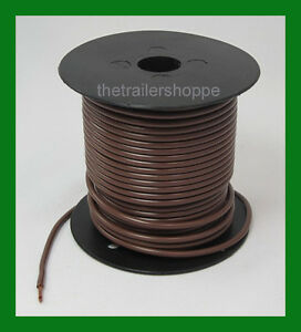 PRIMARY Trailer Light Cable Wire 12 Gauge 100/' BROWN INSULATED COPPER STRANDED