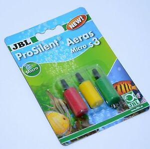 "Jbl Prosilent Aeras Micro S3 Aquarium 1"" Air Stone Fish Tank Pond 3 Pcs-afficher Le Titre D'origine"
