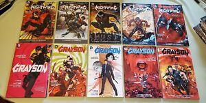 10 TPB HC lot Nightwing Grayson vol 1-5 Complete New Batman Robin DC omnibus SC