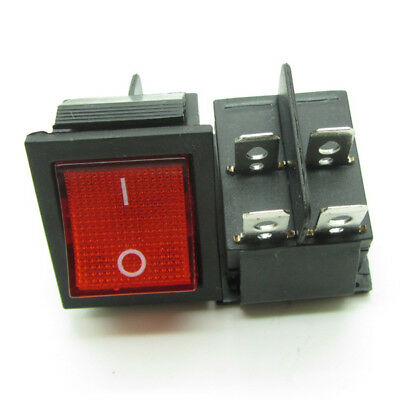 Oiyagai 20 Pcs KCD1-104 DPST ON-Off Rocker Switches with Green LED Light