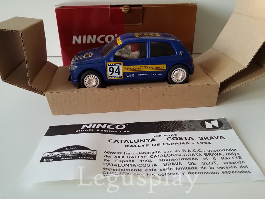 SCX Scalextric Slot Ninco 50108 Renault Clio 16 V V V 64 Catalogne Costa Brava 1994 551e75