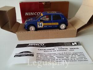 Scx Scalextric Slot Ninco 50108 Renault Clio 16 V # 64 Catalogne Costa Brava 1994